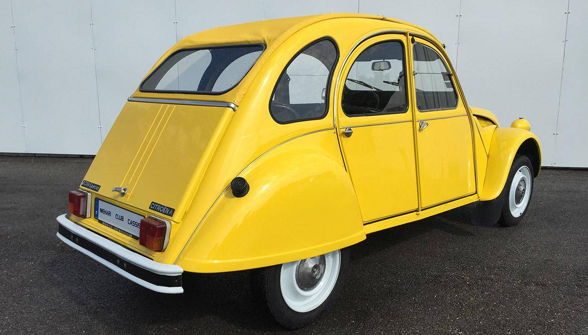 2cv6 sp ciale jaune 1984 mehari 2cv club cassis. Black Bedroom Furniture Sets. Home Design Ideas