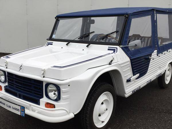 White and Blue Méhari recent model (1987)