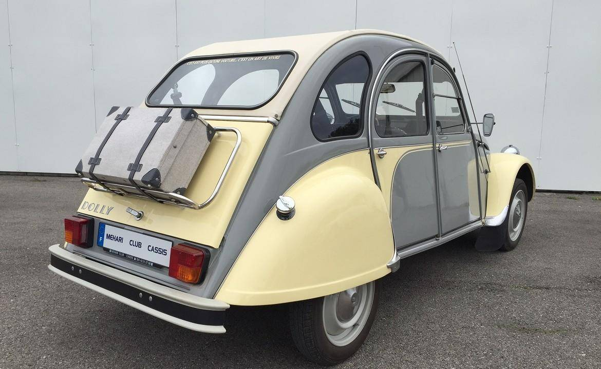 2cv6 dolly jaune et grise 1981 mehari 2cv club cassis. Black Bedroom Furniture Sets. Home Design Ideas