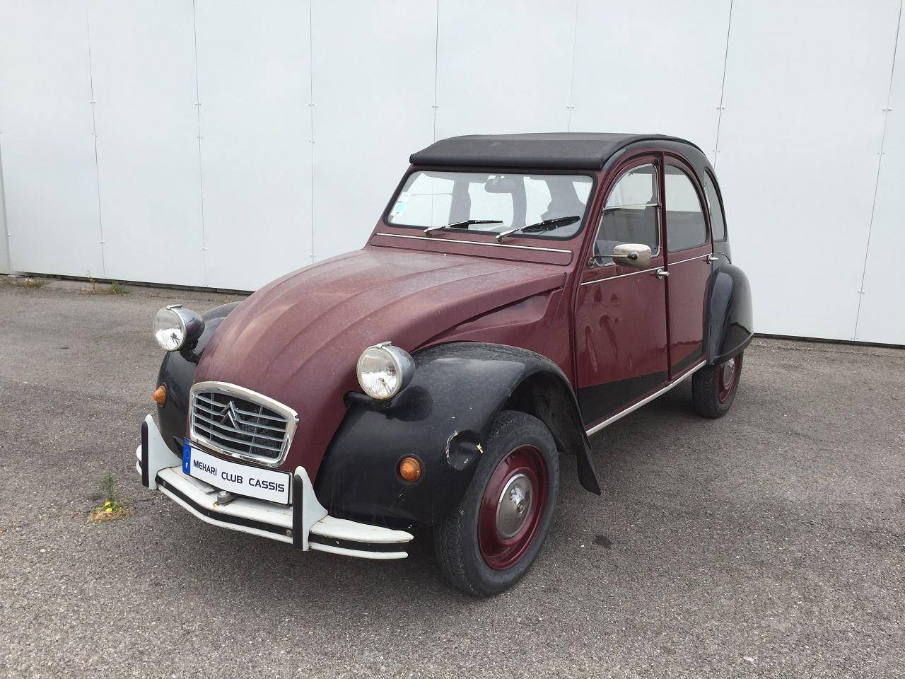 2cv charleston bordeaux 1984 mehari 2cv club cassis. Black Bedroom Furniture Sets. Home Design Ideas