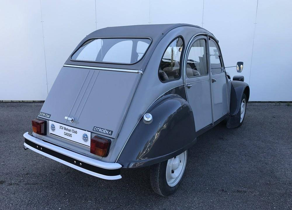 2cv6 club grise 1985 mehari 2cv club cassis. Black Bedroom Furniture Sets. Home Design Ideas
