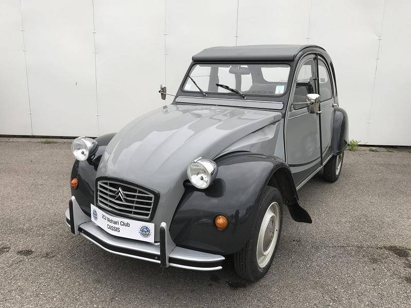 2cv6 charleston grise 1985 mehari 2cv club cassis. Black Bedroom Furniture Sets. Home Design Ideas