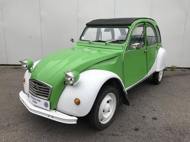 2cv blanche et verte 1976 mehari 2cv club cassis. Black Bedroom Furniture Sets. Home Design Ideas